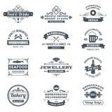 Ретро комплект логотипа Стоковые Фотографии RF