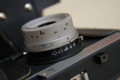 Ретро конец камеры вверх по объективу Стоковые Фотографии RF