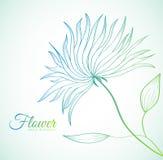 Ретро концепция предпосылки цветка вектор Стоковая Фотография RF