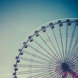 Ретро колесо Ferris стоковые фотографии rf