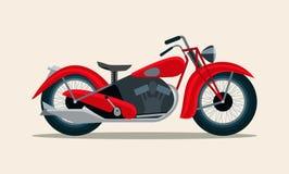 Ретро красный изолированный год сбора винограда мотоцикла бесплатная иллюстрация