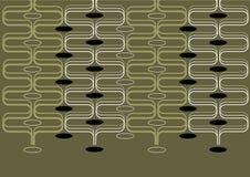 ретро кривых зеленое Стоковые Изображения RF