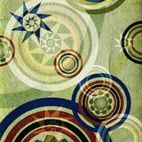ретро кругов зеленое иллюстрация штока