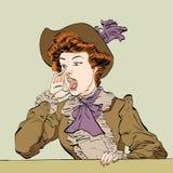 Ретро клекоты дамы Стоковые Фото