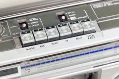 Ретро магнитофон с открытой палубой стоковая фотография rf