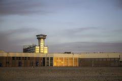 Ретро метрополия - здания набережной включая agai башни вахты Стоковые Фотографии RF