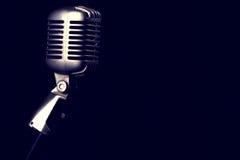Ретро микрофон Стоковые Изображения