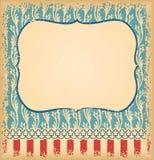 Ретро необыкновенная винтажная предпосылка с орнаментом Шаблон для des Стоковое фото RF