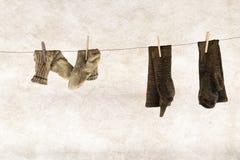 Ретро носки связанные стилем шерстяные Стоковые Фото