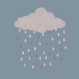 Ретро дождь Стоковое Изображение RF