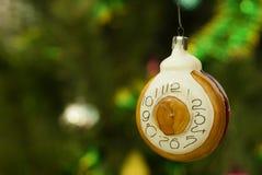 Ретро орнамент рождества - часы Стоковое фото RF