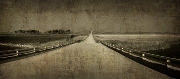 Ретро дорога Стоковая Фотография