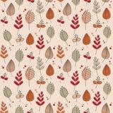 Ретро осень листьев и цветков Стоковая Фотография