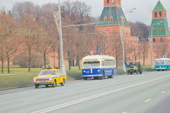 Ретро парад перехода города Стоковое Фото