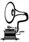 ретро патефон на белизне Стоковая Фотография RF