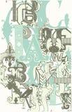Ретро письма алфавита Стоковая Фотография
