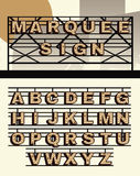 Ретро письма знака шатёр вектора стиля бесплатная иллюстрация