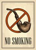 Ретро плакат - знак для некурящих в винтажном стиле Вектор выгравировал иллюстрацию изолированную на темной предпосылке Для баров бесплатная иллюстрация