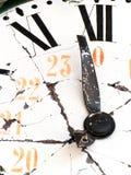 ретро поврежденное часами старое Стоковое фото RF
