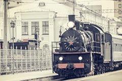 ретро поезд пара Стоковые Изображения RF