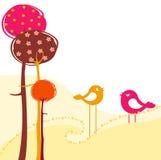 Ретро поздравительная открытка Стоковое Изображение