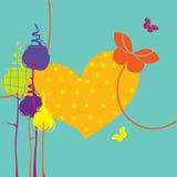 Ретро поздравительная открытка Стоковая Фотография RF
