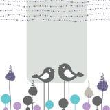Ретро поздравительная открытка Стоковое Фото