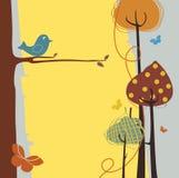 Ретро поздравительная открытка Стоковые Изображения
