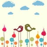 Ретро поздравительная открытка Стоковое Изображение RF