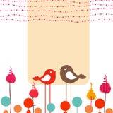 Ретро поздравительная открытка Стоковые Фотографии RF
