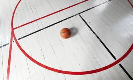 Ретро пол баскетбольной площадки Стоковое фото RF