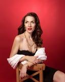Ретро портрет красивой девушки стоковая фотография