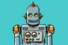 Ретро портрет робота бесплатная иллюстрация
