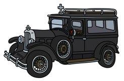 Ретро похоронный автомобиль Стоковые Фото