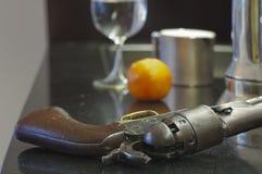 Ретро подготовленный револьвер Стоковая Фотография