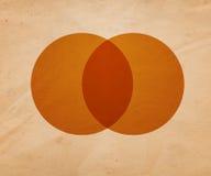 Ретро предпосылка иллюстрации круга Стоковое Изображение