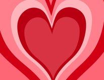 Ретро предпосылка сердца дня Валентайн стоковое фото rf