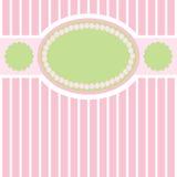 ретро предпосылки нежное зеленое розовое Стоковая Фотография RF