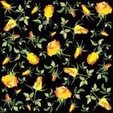 ретро предпосылки флористическое подняло Стоковое Фото