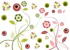 ретро предпосылки флористическое Стоковые Фотографии RF