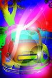 ретро предпосылки цветастое Стоковая Фотография