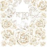 Ретро предпосылка белых цветков партии Стоковое фото RF
