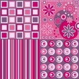 ретро предпосылки розовое Стоковая Фотография