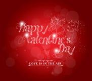 Ретро предпосылка влюбленности для счастливой карточки дня валентинок иллюстрация штока