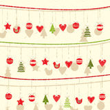Ретро предпосылка гирлянды рождества бесплатная иллюстрация