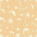 Ретро предпосылка лета Безшовная картина желтого цвета grunge Стоковые Изображения RF