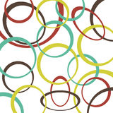 Ретро предпосылка картины с кругами Стоковые Изображения RF