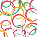 Ретро предпосылка картины с кругами иллюстрация вектора