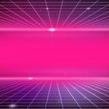 ретро предпосылка научной фантастики 80s Стоковое Изображение RF