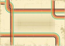 Ретро предпосылка. Плакат вектора абстрактный на старом PA Стоковая Фотография